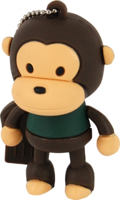 MEMORIA  PENDRIVE MOOSTER USB 4GB TOONS BROWN MONKEY MX 120